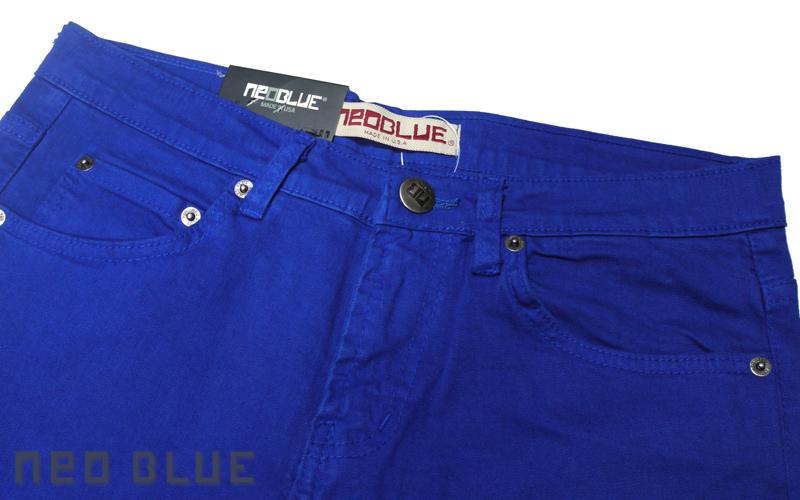 NEO BLUE jogger pants スキニー SKINNY   ブルー 通販