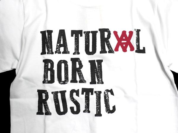 ANIMALIA アニマリア Tシャツ natural born rustic 通販 ホワイト