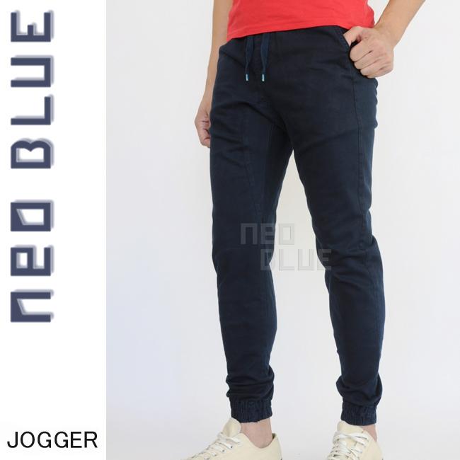 7611 NEO BLUE jogger pants ジョガーパンツ Twill スキニー スケーター 通販