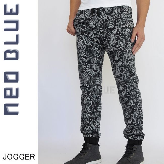 7625 NEO BLUE jogger pants ジョガーパンツ Twill スキニー スケーター 通販