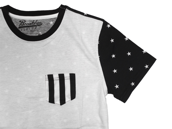BROOKLYN CLOTH ブルックリンクローズ Stars and Stripes Blocked Tee スター Tシャツ 通販