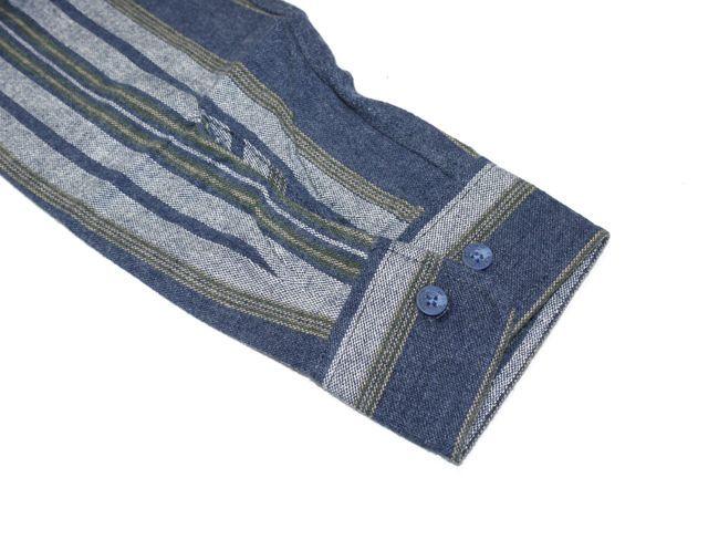 brixton ブリクストン シャツ ネルシャツ 長袖シャツ フランネル 通販 ブランド 取扱店 SBOWERY ブルー グレイ