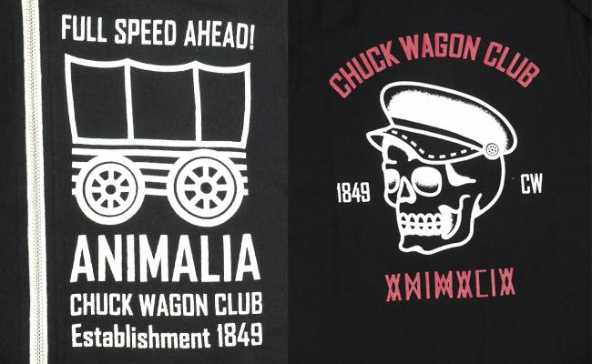 ANIMALIA アニマリア パーカー HOODIE ジップパーカー Chuck Wagon Club HOODIE ブラック 通販