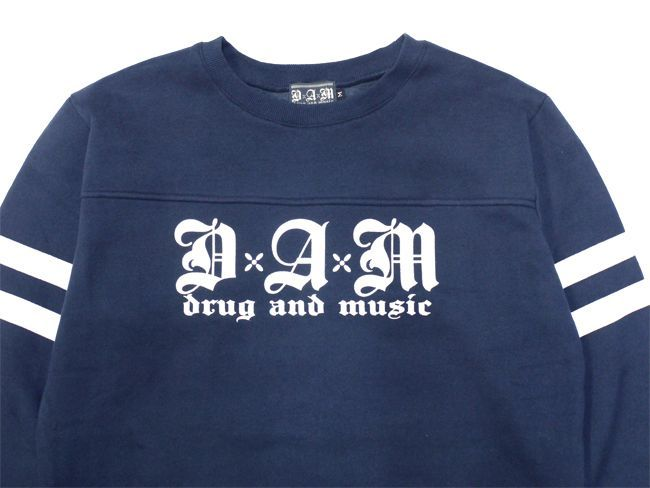 DxAxM drug and music スウェット 長袖 ストリートスタイル スケータースタイル 通販 ネイビー
