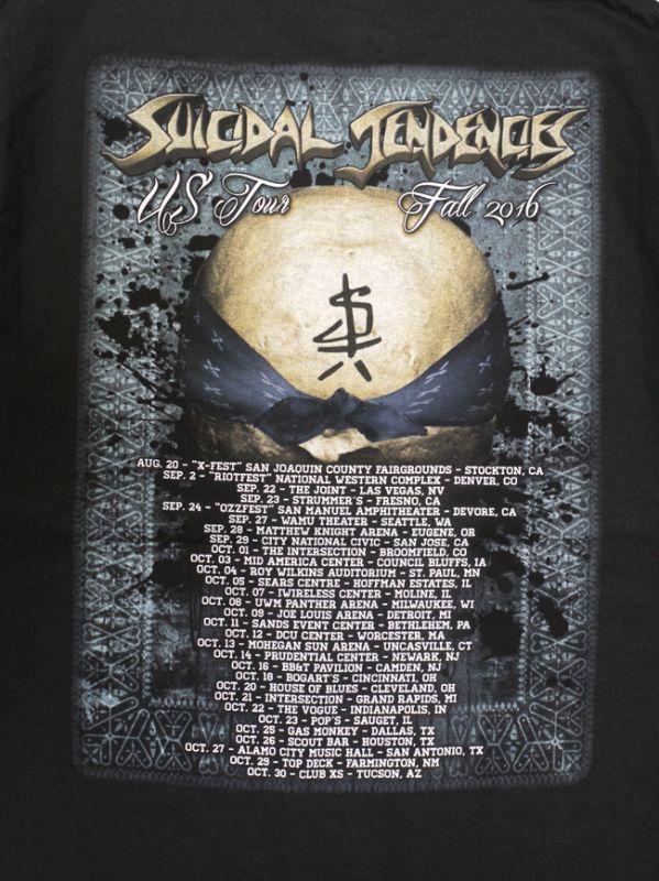 suicidal tendencies スイサイダルテンデンシーズ Tシャツ WORLD GONE MAD US TOUR FALL 2016 通販