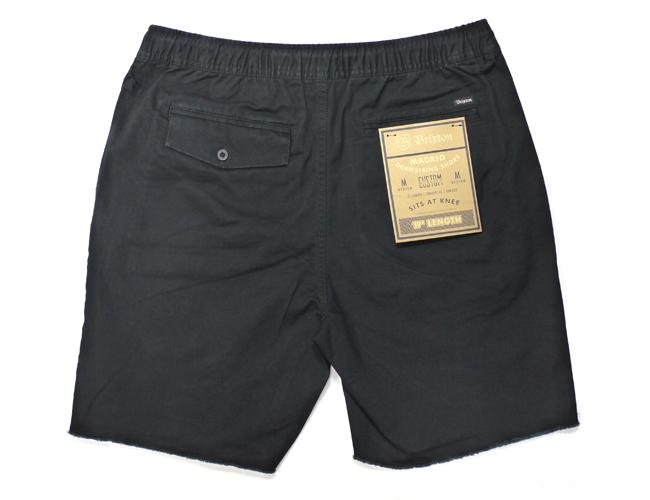 BRIXTON MADRID SHORTS  ブラック ショートパンツ 切りっぱなし パンツ ブリクストン メンズ ファッション 通販 ハーフパンツ