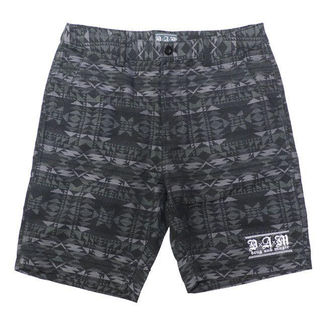 DxAxM ハーフパンツ ショーツ ネイティブ アメリカン ジャガード メンズ ブランド ストリート ストライプ 半ズボン