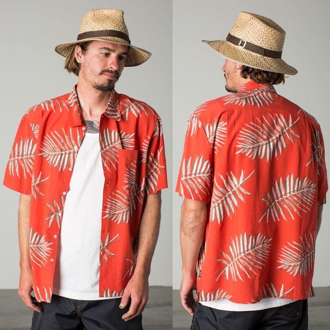 ブリクストン 半袖 シャツ ブランド メンズ brixton  LOVITZ red ポプリン リラックスフィット 通販