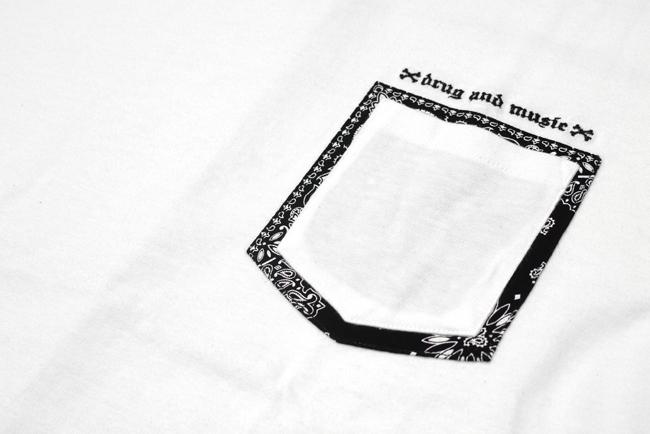 DxAxM drug and music ダム ドラッグアンドミュージック Tシャツ  ペイズリー ポケット 通販 メンズ ブランド 通販