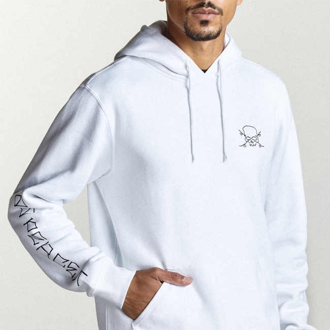 Brixton Cien Jason Jessee Hoodie White M New Clothing, Shoes & Accessories