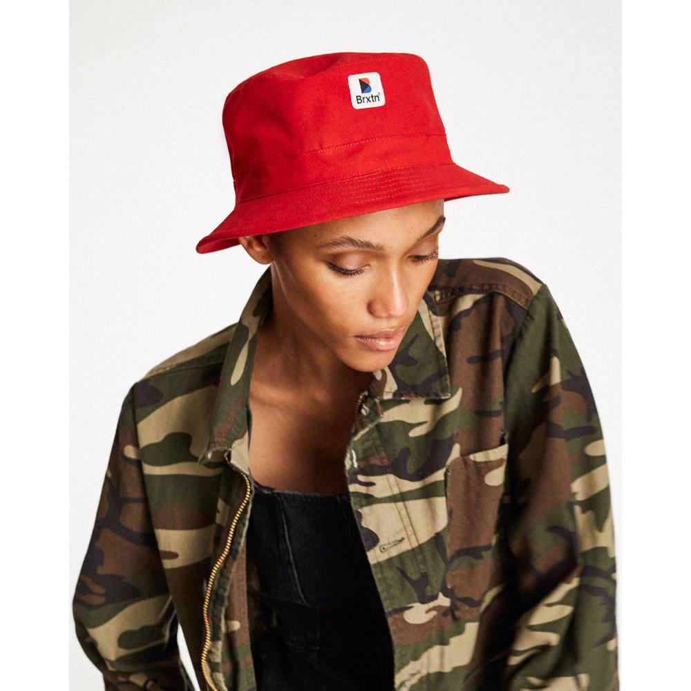 5f50d928b [BRIXTON]-STOWELL BUCKET HAT-RED-