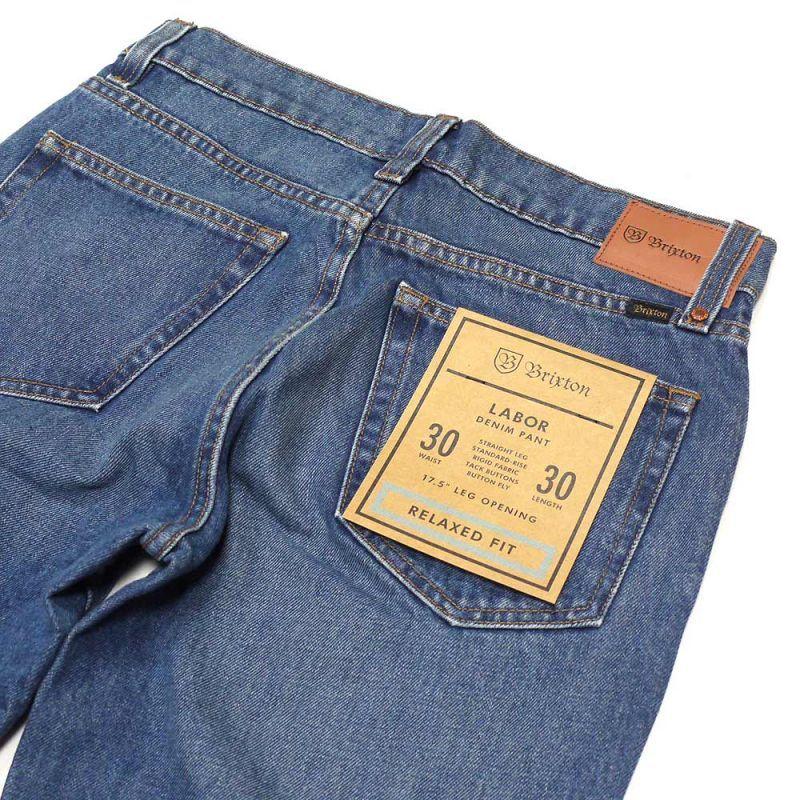 Worn Indigo Brixton Labor Denim Pants